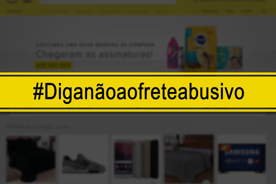 #DIGANÃOAOFRETEABUSIVO